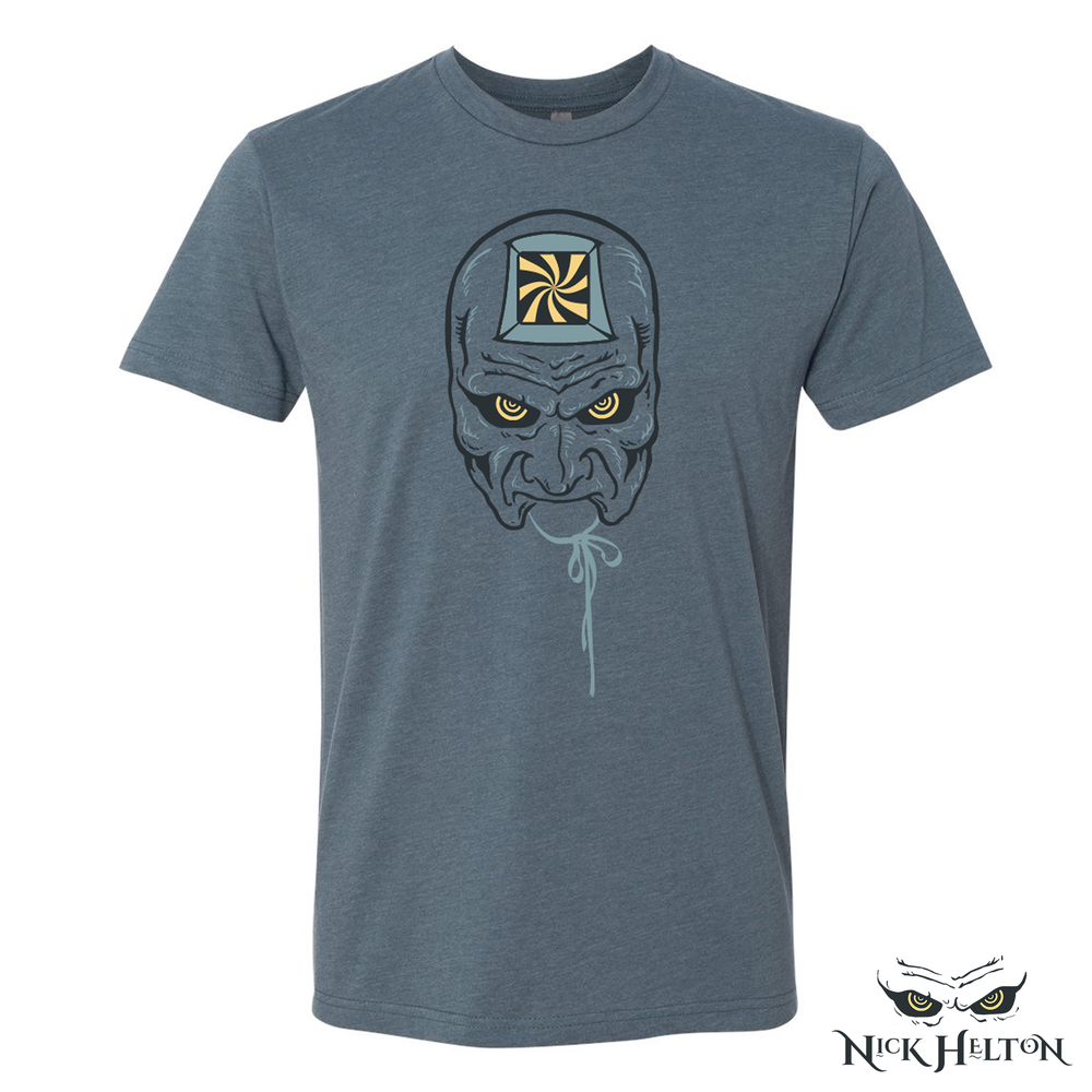 "Image of ""The Hypnotist"" T-Shirt (Heathered Indigo)"