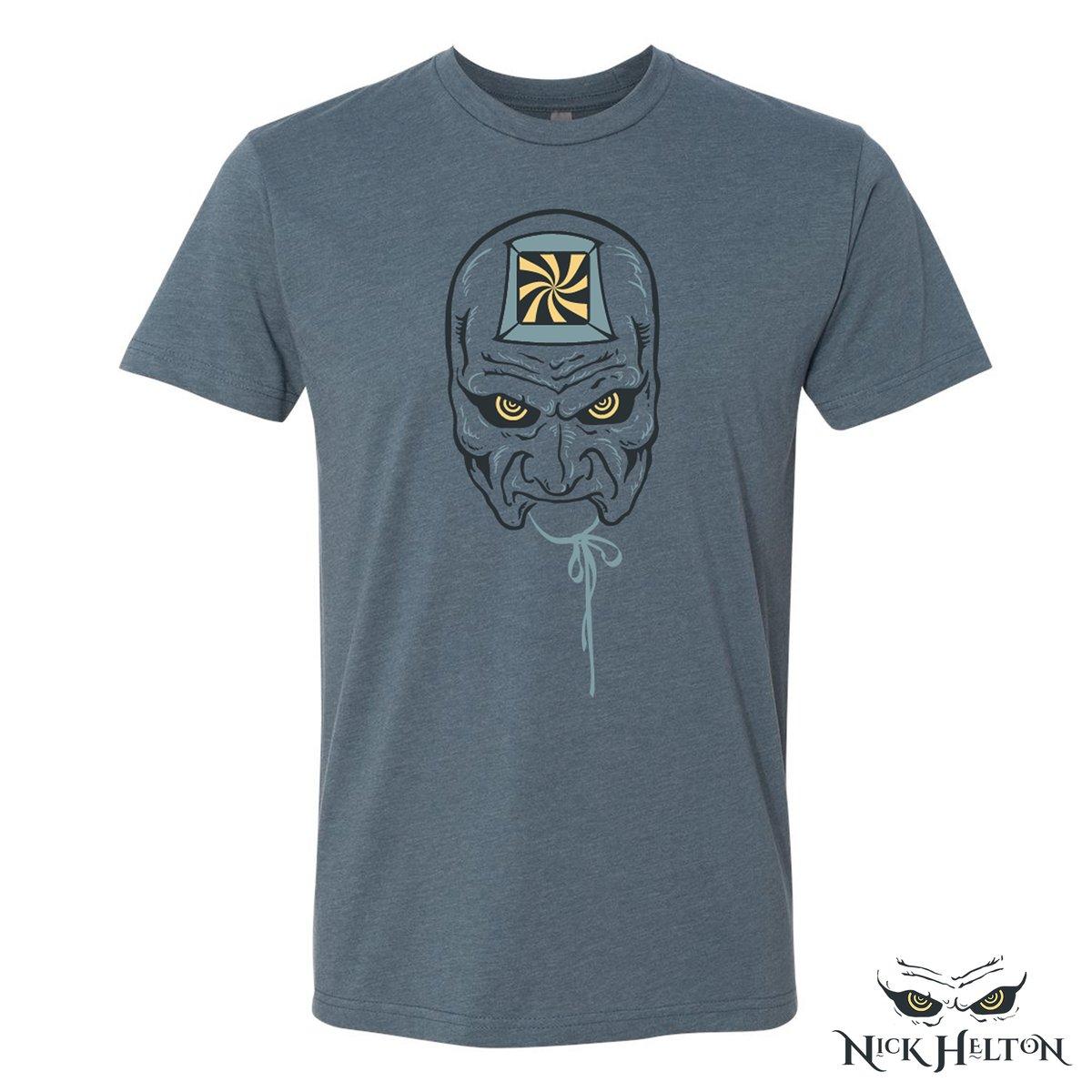 "Image of ""The Hypnotist"" T-Shirt (Heathered Indigo)"