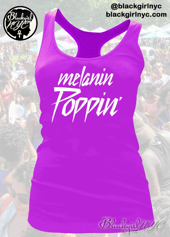 Image of Melanin Poppin Racerback Tank Top