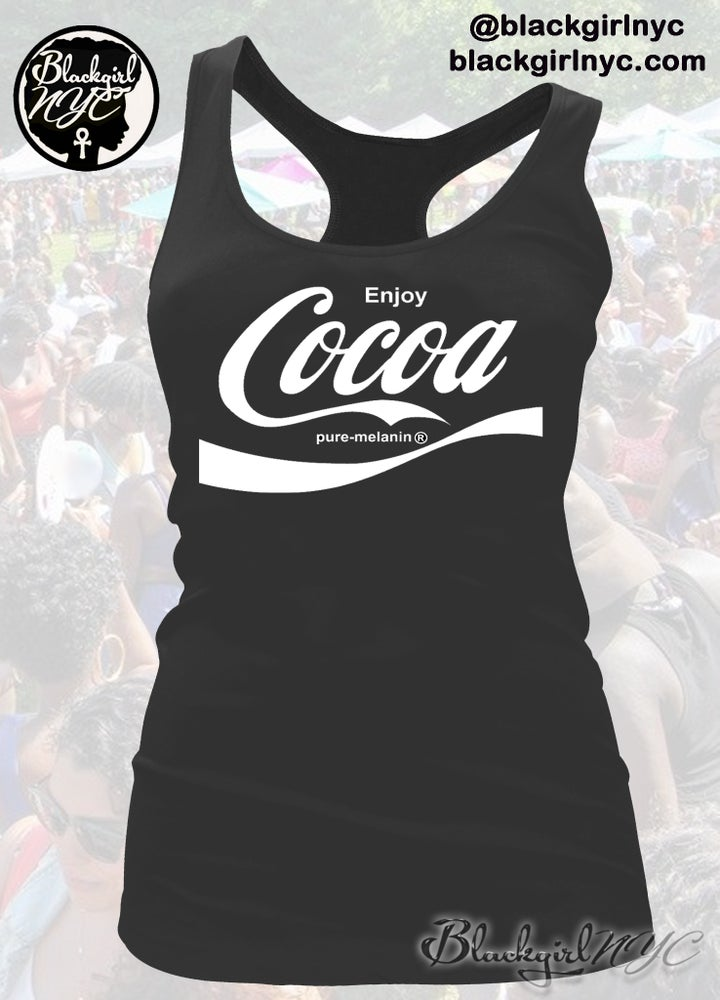 Image of enjoy COCOA - (Pure Melanin)  Racerback Tank Top