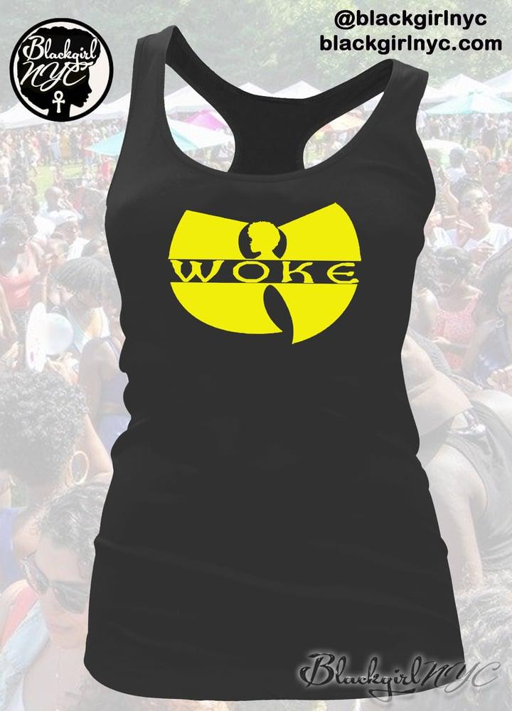 Image of WOKE Racerback Tank Top