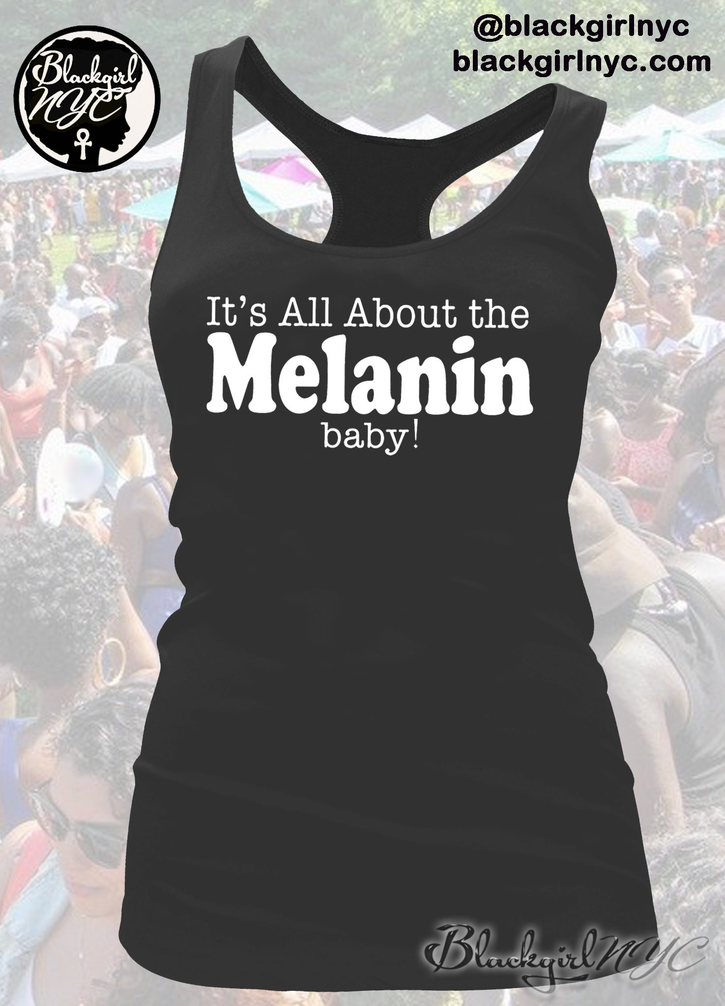 Image of It's All About the MELANIN, Baby Racerback Tank Top