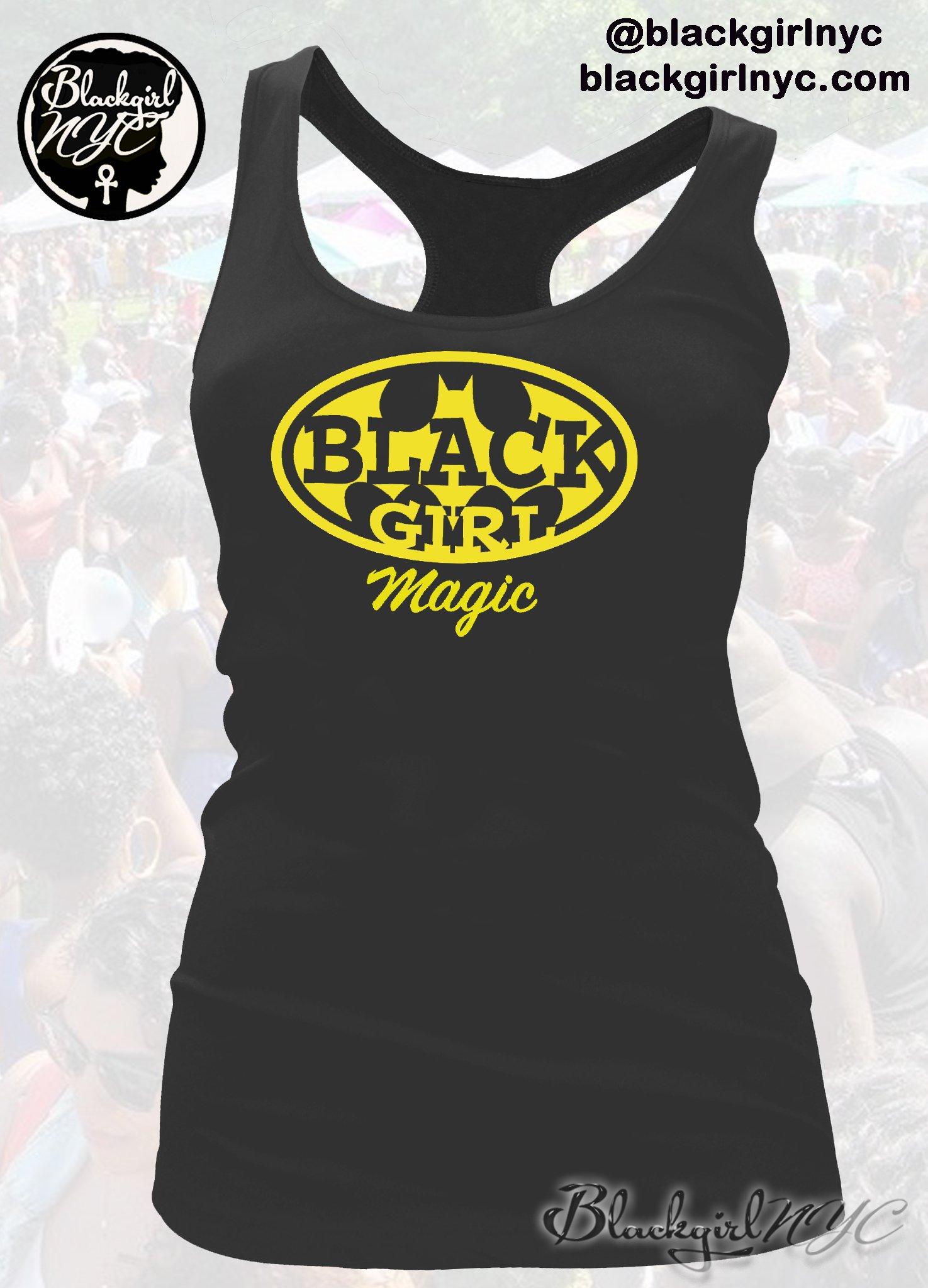 Image of BLACK GIRL MAGIC (BATGIRL) Racerback Tank Top