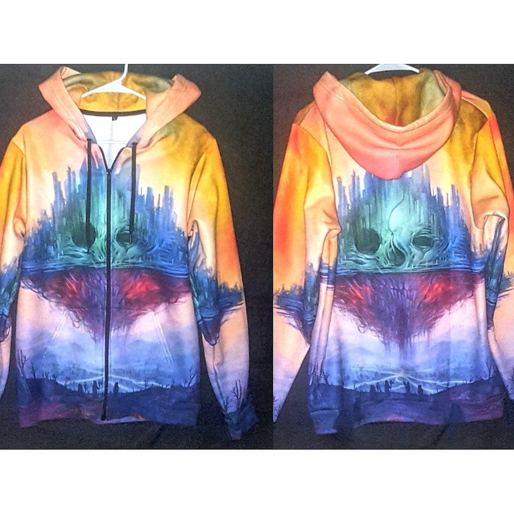 Image of Defriender 360 Degree Full Zip Hooded Sweatshirt