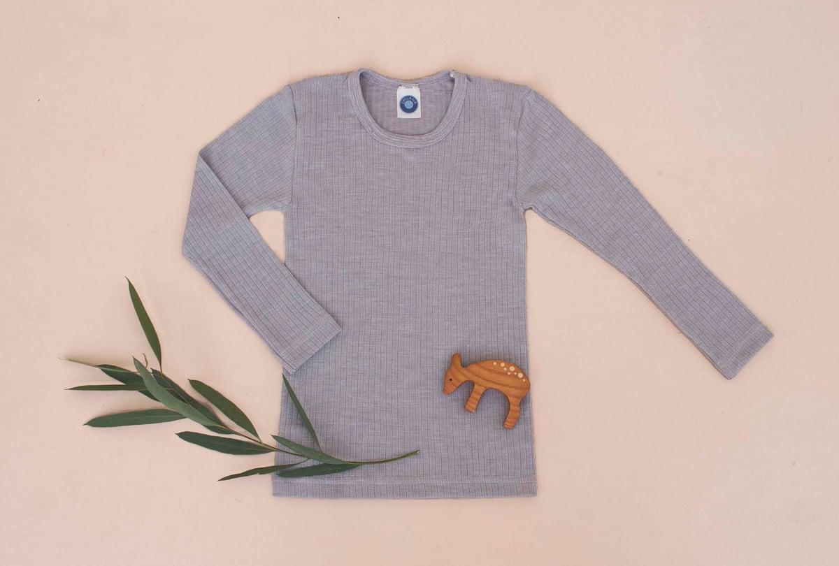 Image of Cosilana Wool/Cotton/Silk top silver