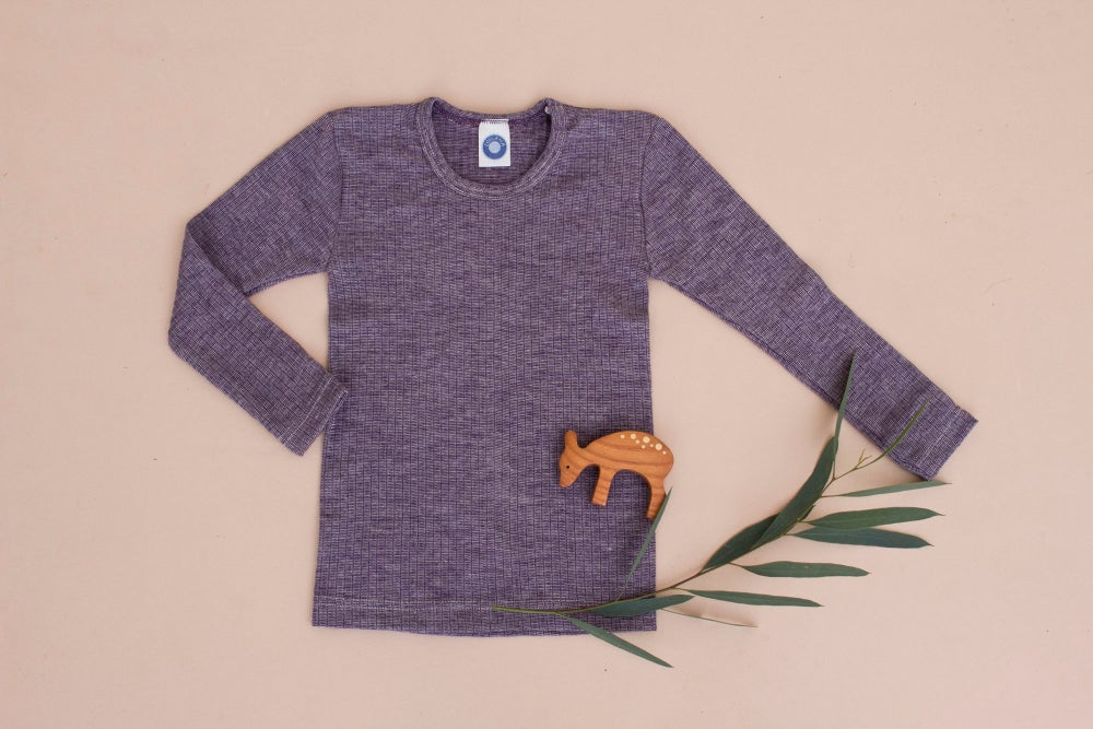 Image of Cosilana Wool/Cotton/Silk top purple