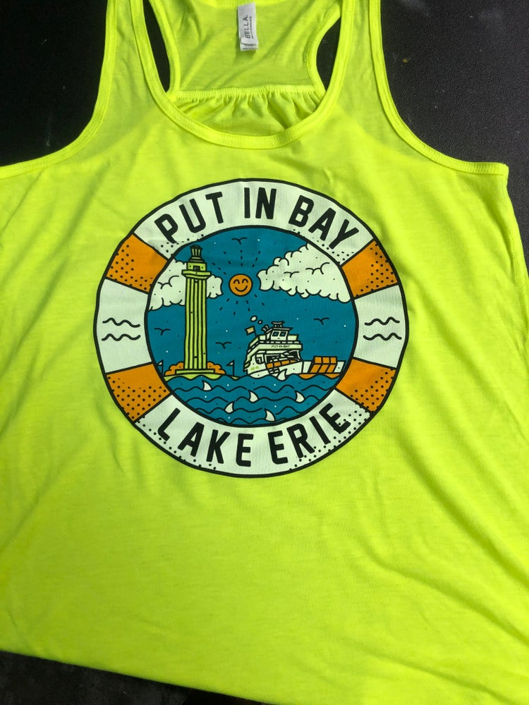 Image of Put-in-Bay Ladies Yellow Tank Top
