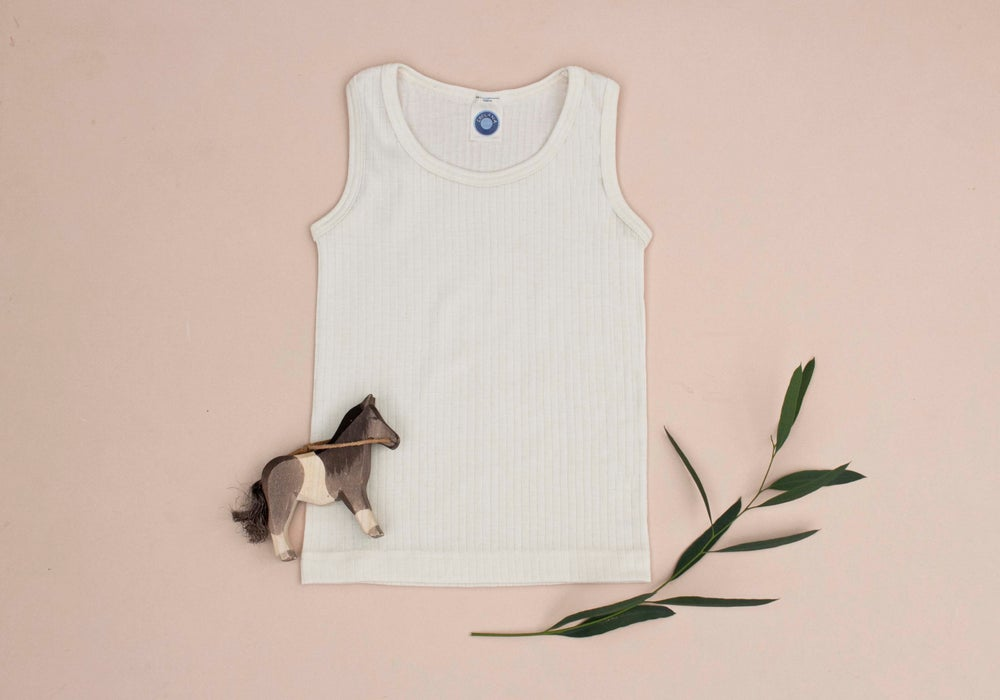 Image of Cosilana wool/cotton/silk singlet 4 colours
