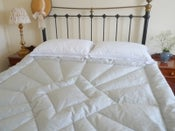 Image of Stunning Arabian Grey Silk King Size Eiderdown