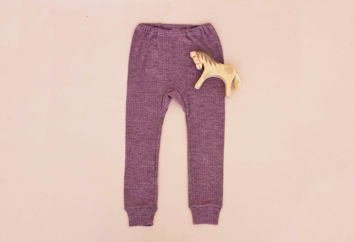 Image of Cosilana wool/cotton/silk pants merlot