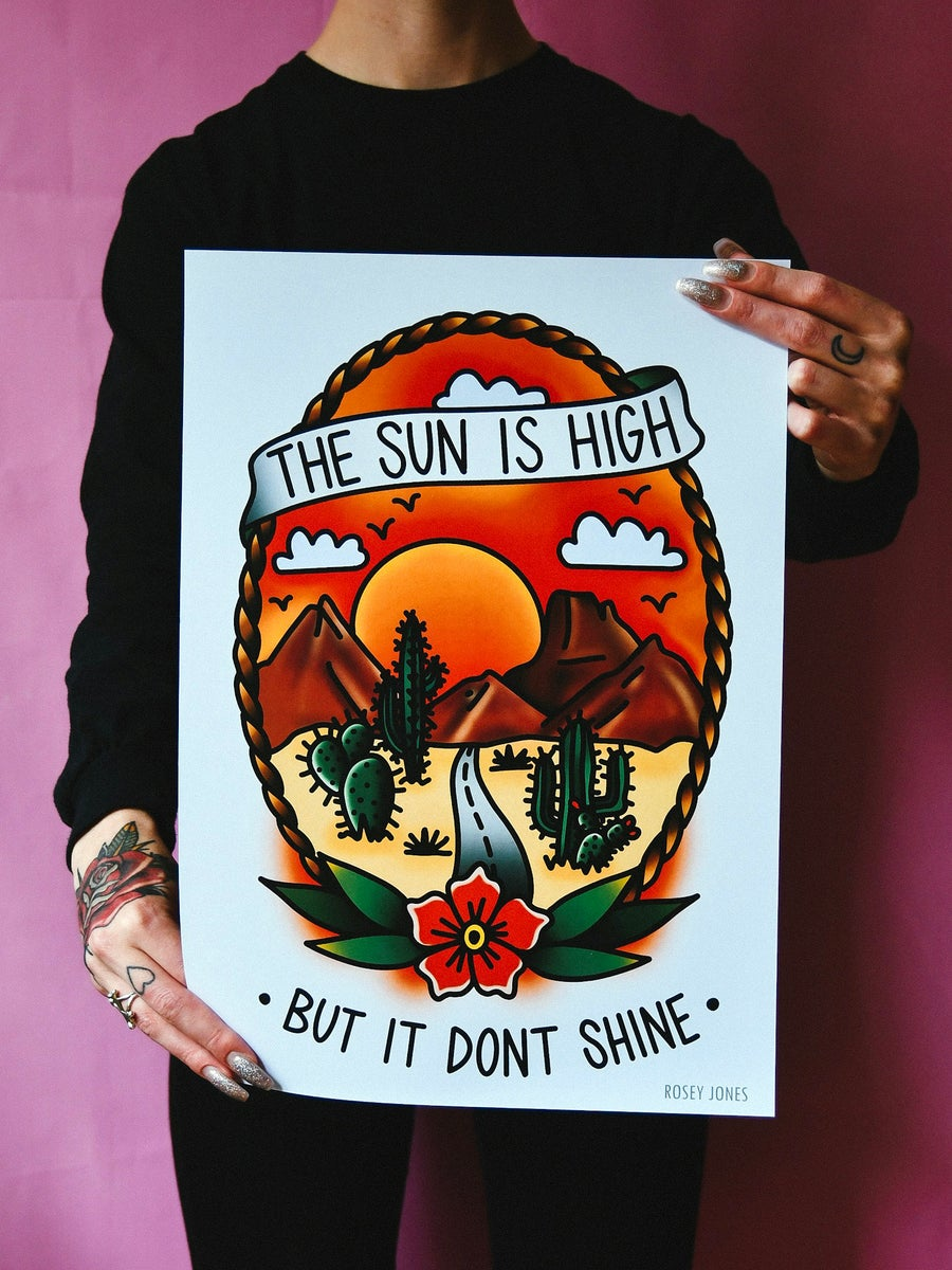 Image of Print The Sun Is High