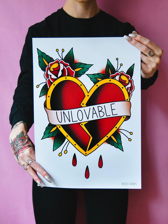 Image of Print Unlovable