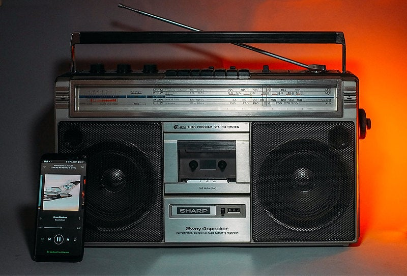 Image of SHARP GF-6060HD BLUETOOTH BOOMBOX (1980)
