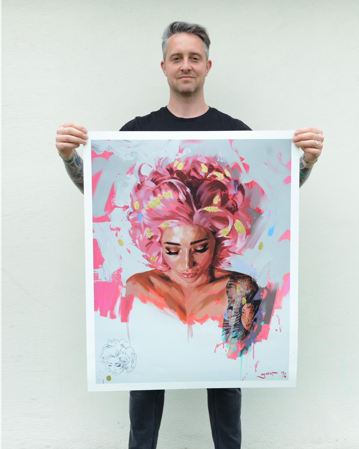 Image of EXTREMELY LIMITED HAND EMBELISHED 'CANDY FLOSS' Giclee Print