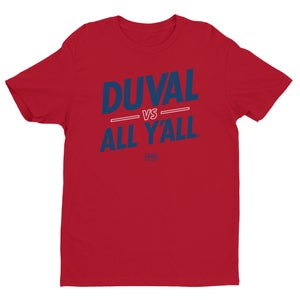 Image of Duval vs All Y'all - Red colorway
