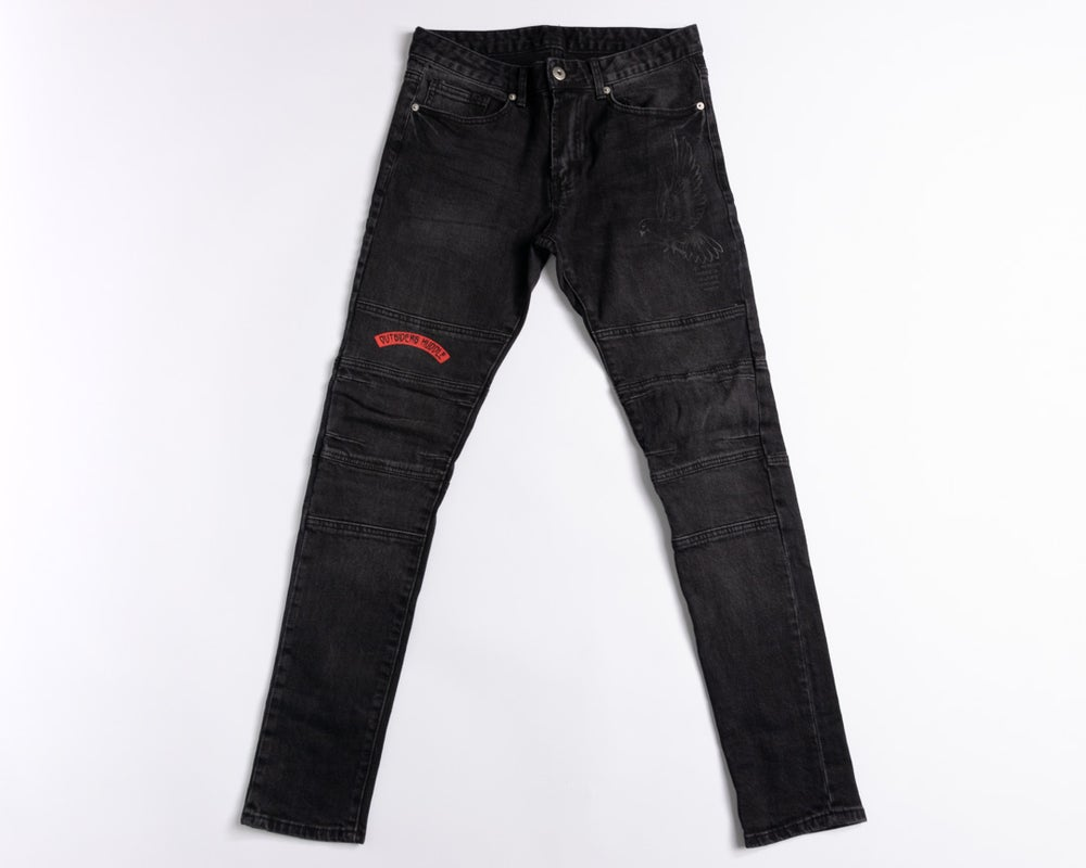 Image of Biker Jeans (Black)