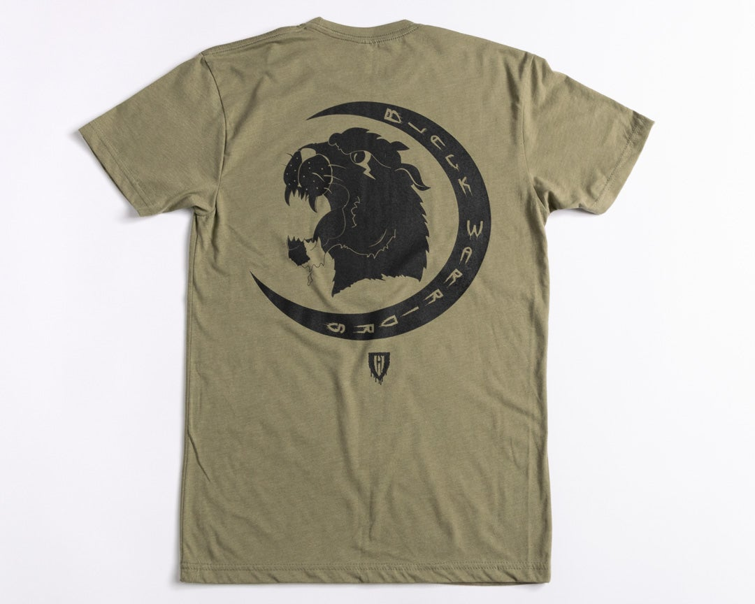 "Image of ""Black Warriors"" Tee (Olive)"