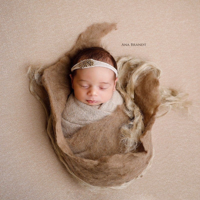 Image of Thick Wool Felted Layer - Earth Brown, (re. $59)