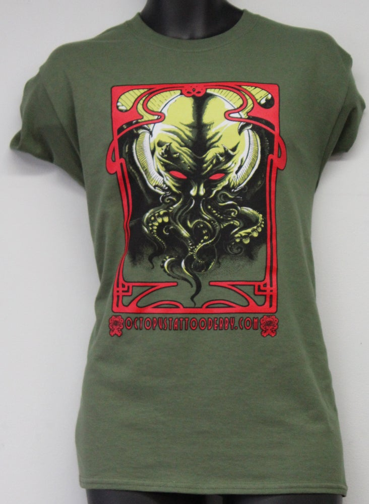 Image of New Octopus Tattoo T Shirt