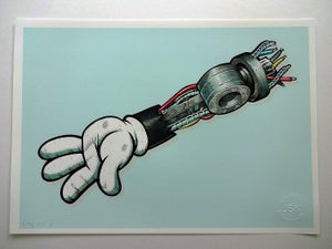 Image of Machine Mouse 'Blue' Limited print.
