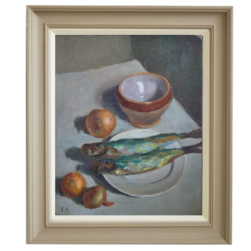 Image of 'Still Life with Fish,' Jean Villebrun (1914-2018)