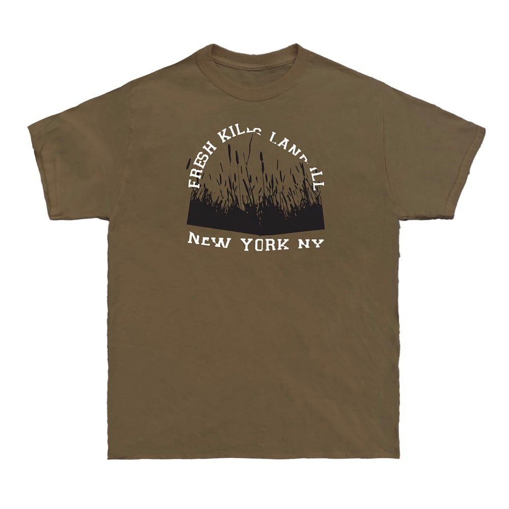 Image of 1 Year Anniversary Fresh Kills Tee (Tobacco)