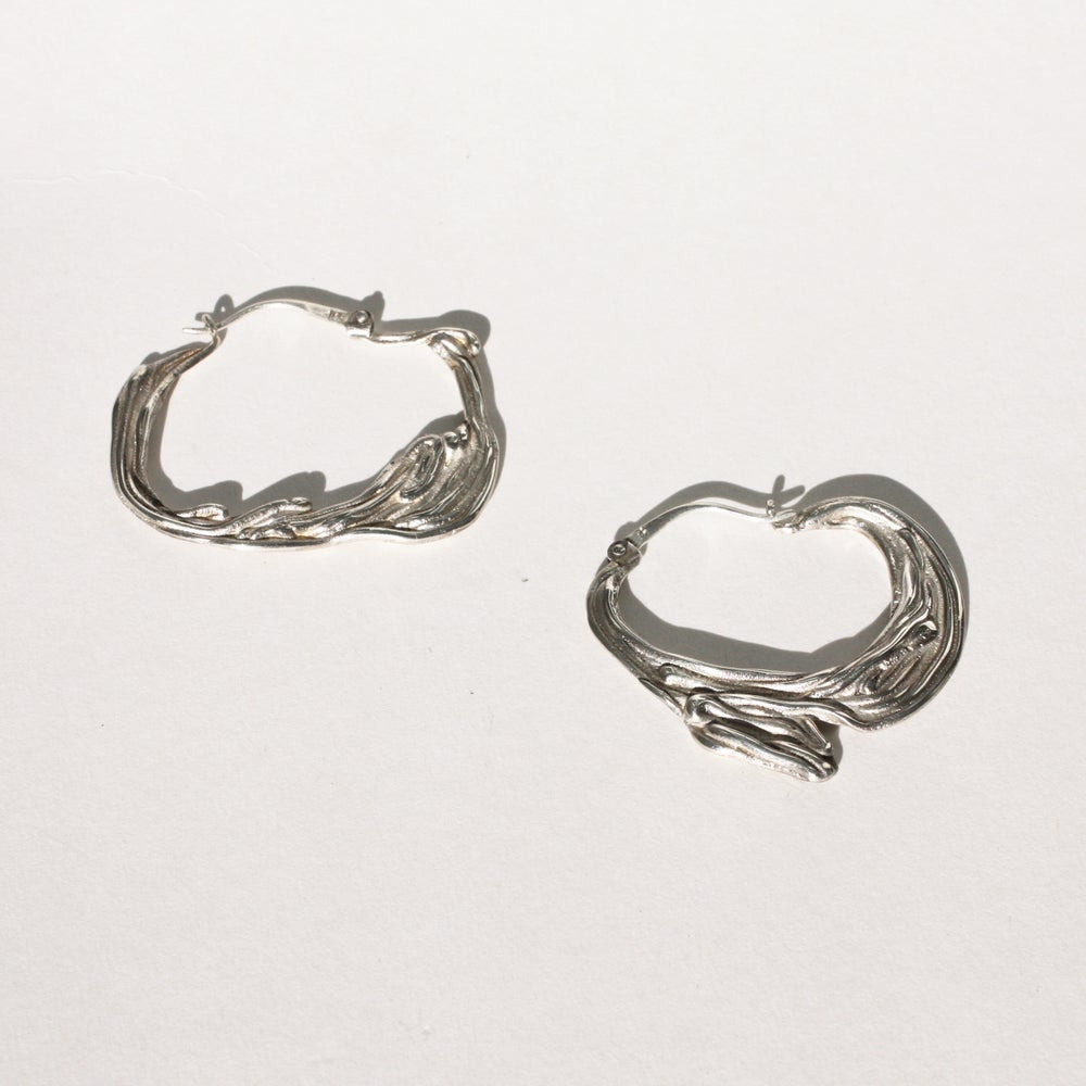 Image of Silver Sea Hoops