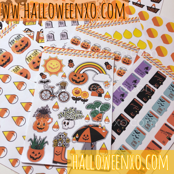 Image of HalloweenXO Planner Sticker Bundle