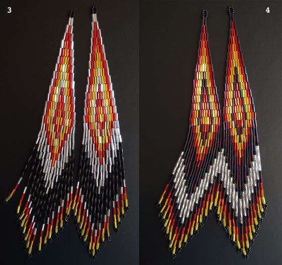 Image of Long Fringe Earrings