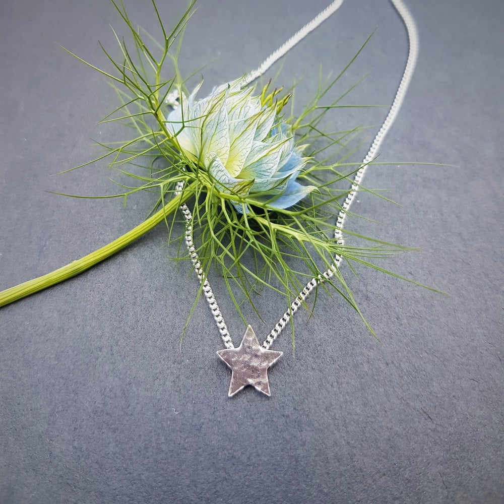 Image of Little Silver Star Necklace