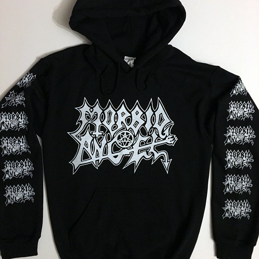 Image of Morbid Angel Hoodie with Sleeve Prints