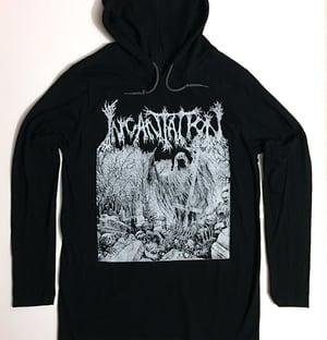 """Image of Incantation  """" Rotting """" Hooded T shirt"""