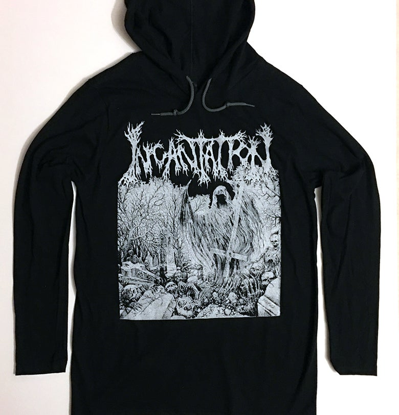 "Image of Incantation  "" Rotting "" Hooded T shirt"