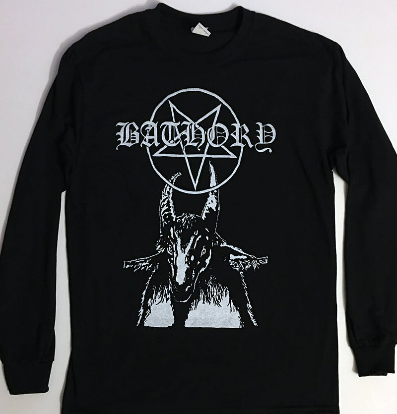 "Image of BATHORY "" Pentagram "" Long Sleeve T shirt"