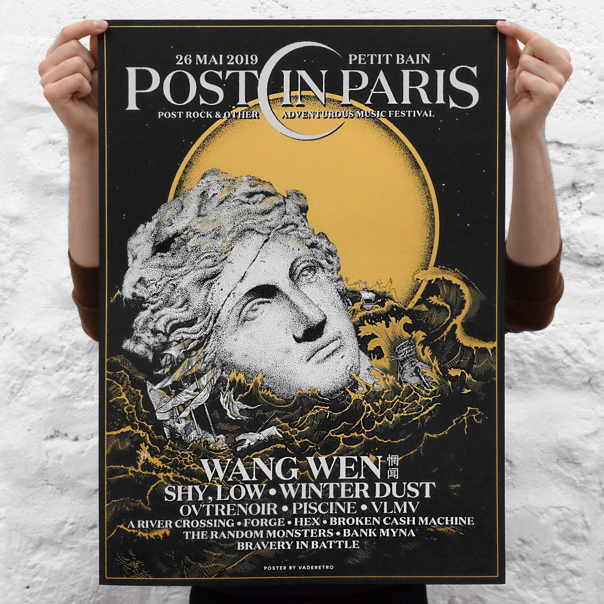 Image of POST IN PARIS 2019 (screenprinted poster)