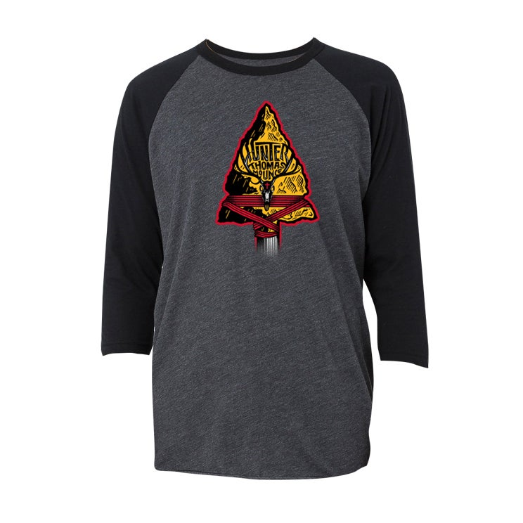 Image of Heather Gray Baseball Tee