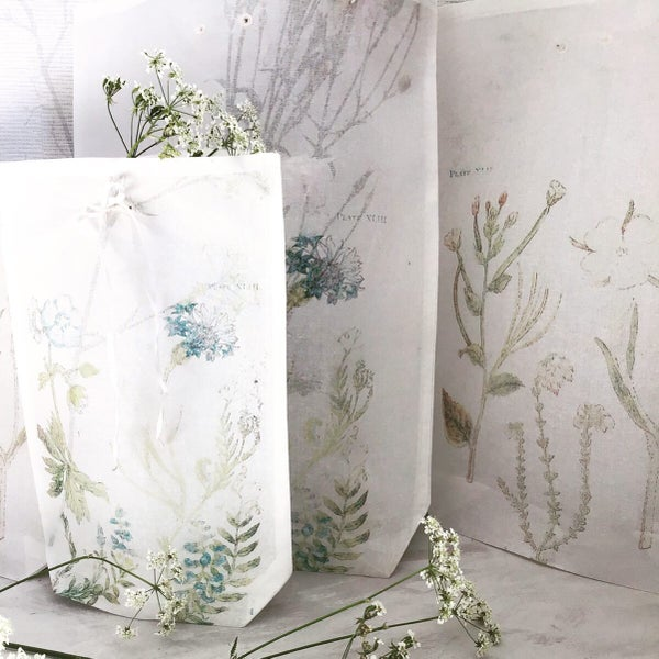 Image of Botanical organdie bags- set 1