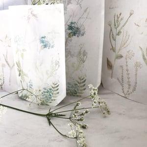 Image of Botanical organdie bags- set 1