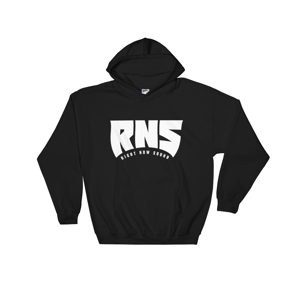 "Image of Right Now Sound ""RNS"" Hoodie in Black"