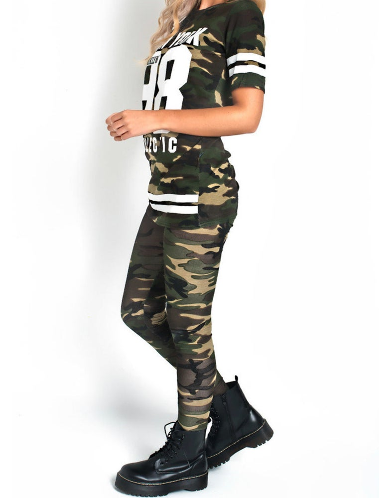 Image of camo lounge set
