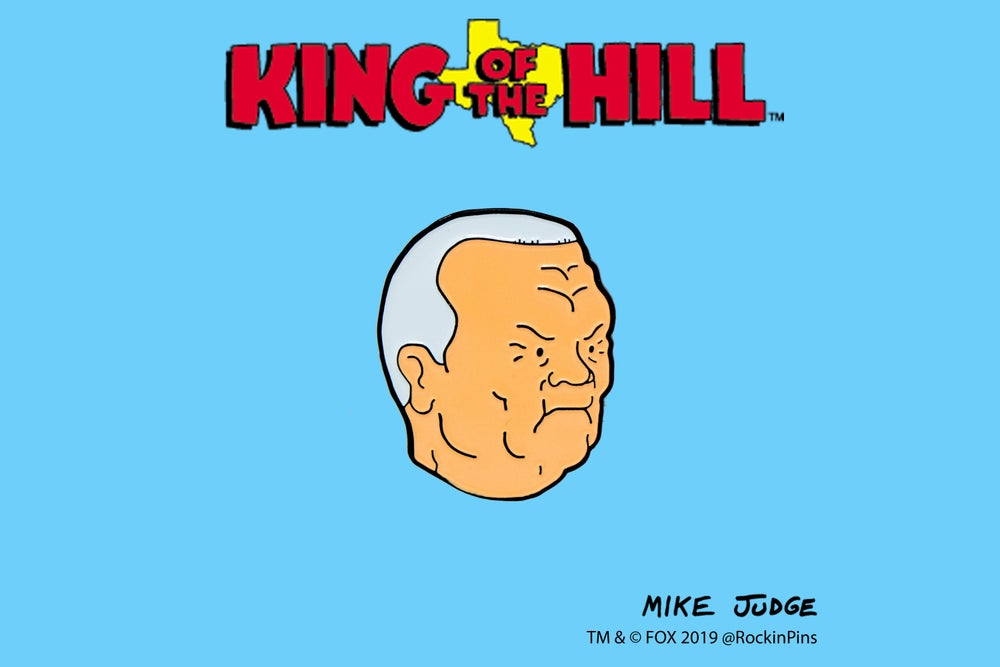 Image of King of the Hill - Cotton Hill Head Enamel Pin