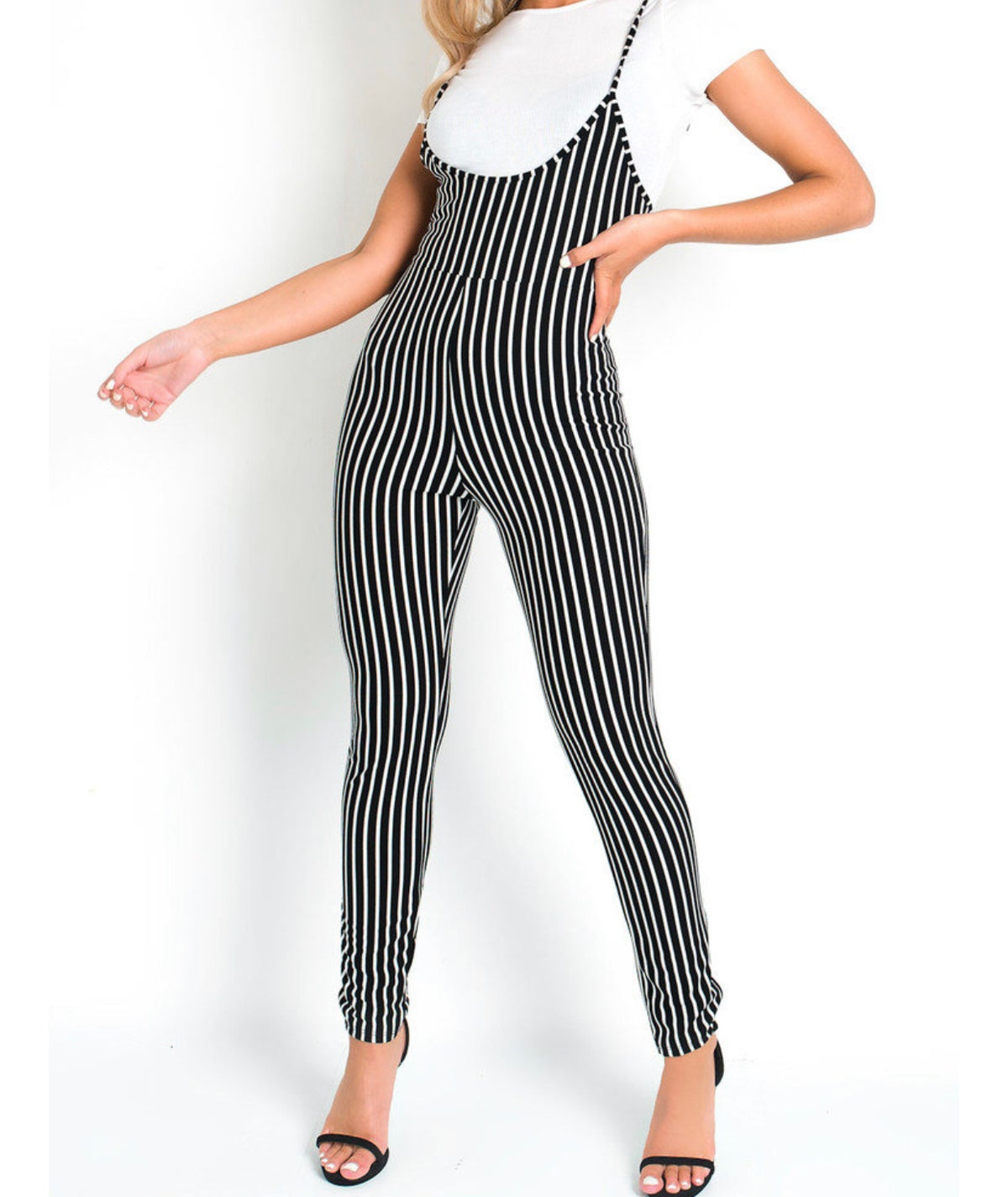 Image of striped jumpsuit