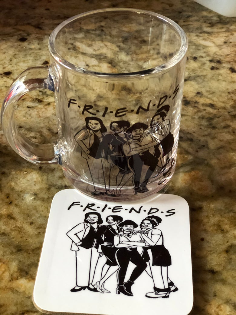 Image of Friends 👭 Mug and Coaster Set