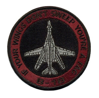Image of B-1B 'You're A Fag' Patch (RED)
