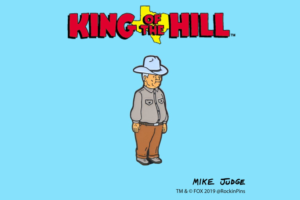 Image of King of the Hill - Cowboy Cotton Hill Enamel Pin