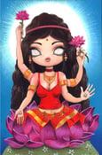 Image of Lakshmi - original acrylic painting