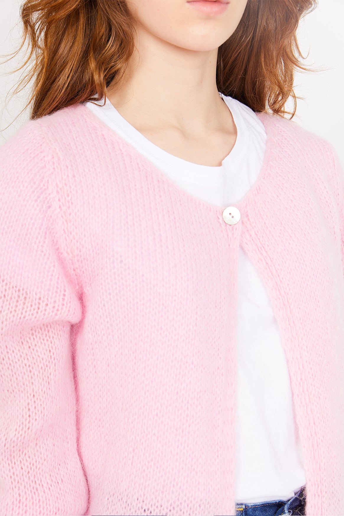 Image of Pink Cardigan Sweater
