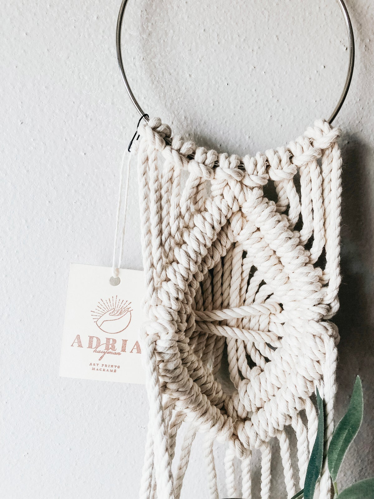 Image of Single Square Knot Macramé Plant Hanger