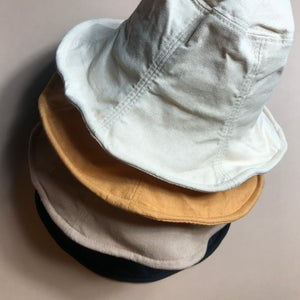 Image of Linen Sun Hat. (Black)