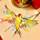 Image of Goldfinch unframed A4 size